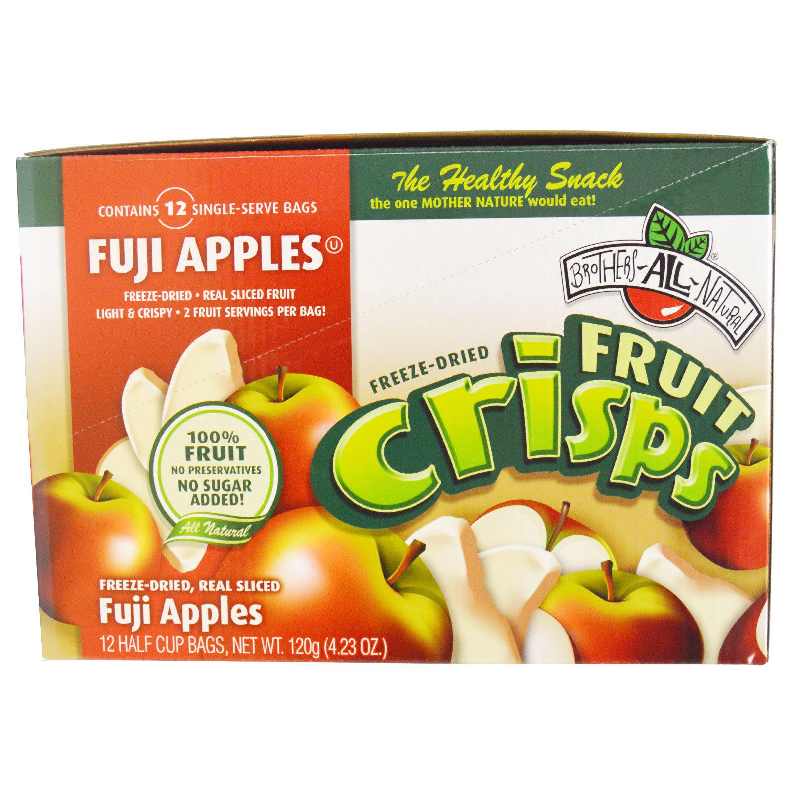 Brothers-All-Natural, Fuji Apple, 12 bags (.35 oz each)
