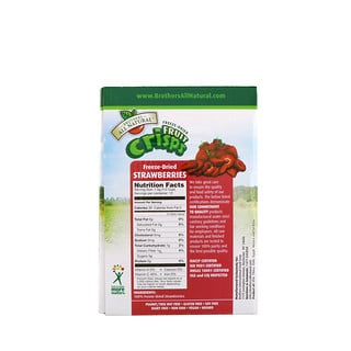 Brothers-All-Natural, Freeze Dried - Fruit Crisps, Strawberries, 12 Single-Serve Bags, 3.17 oz (90 g)