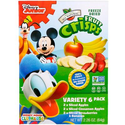 Купить Disney, Fruit-Crisps Variety Pack, Fuji Apple, Apple Cinnamon, Strawberry and Banana, 6 Single Serve Bags, 0.35 oz (10 g) Each