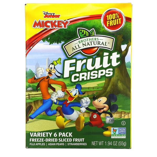 Fruit-Crisps, DisneyJunior, ассорти, 6упаковок, по 10г (0,35унции)