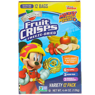 Brothers-All-Natural, Disney Junior, Freeze Dried - Fruit Crisps, Variety Pack, 12 Pack, 4.44 oz (126 g)