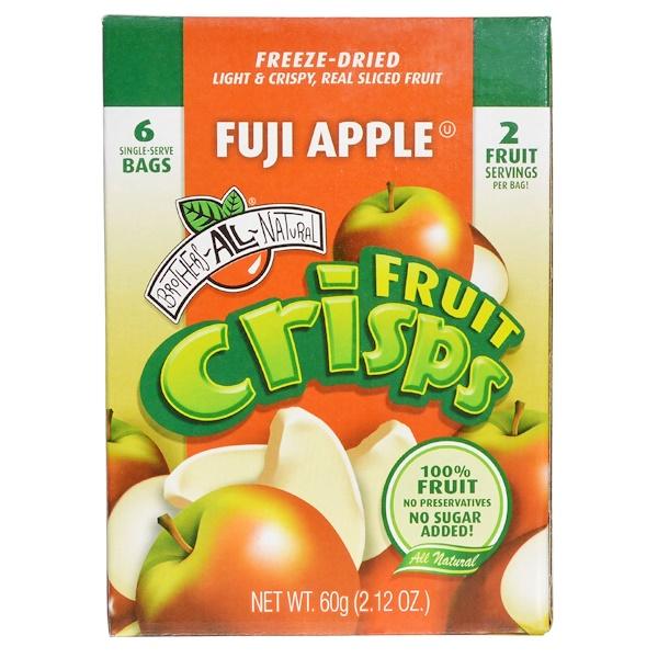 Brothers-All-Natural, Fruit Crisp, Fuji Apple, 6 Bags, 10 g Each