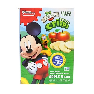 Brothers-All-Natural, Fruit Crisps, Disney Junior, Apples / Cinnamon Apples, 5 Pack, 0.25 oz (7 g) Each
