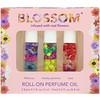 Blossom, طقم زيت عطري بالبكرة الدوارة، 3 قطع، 0.1 أونصة سائلة (3 مل) لكل قطعة