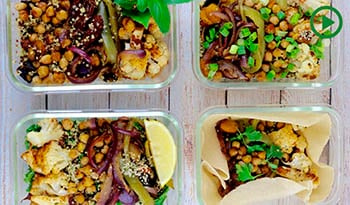4-Way Meal Prep: Roasted Spiced Vegetables, Chickpeas and Quinoa