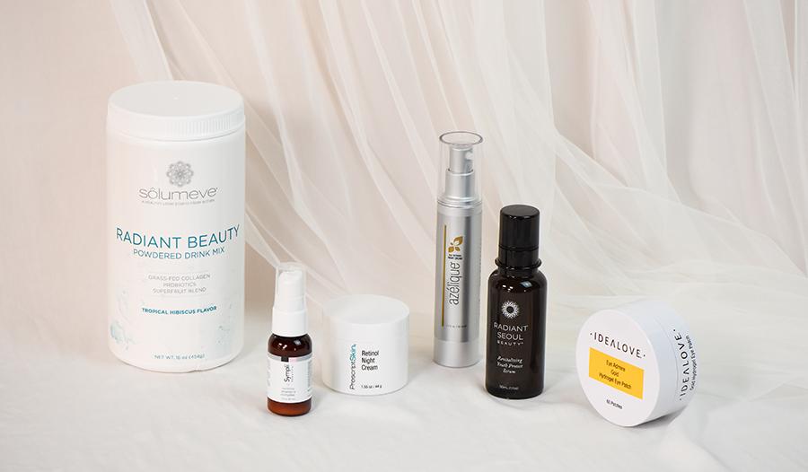 iherb beauty products solumeve, sympli beautiful, prescriptskin, azelique, radiant seoul, and idealo