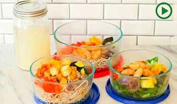 Healthy Work Lunches: Mix n' Match Teriyaki Lunch Bowls