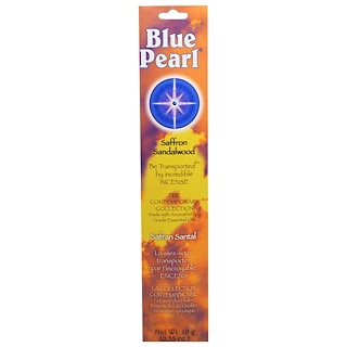 Blue Pearl, The Contemporary Collection, Saffron Sandalwood Incense, 0.35 oz (10 g)