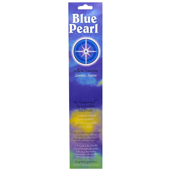 Blue Pearl, The Contemporary Collection, Yellow Jasmine Incense, 0.35 oz (10 g)