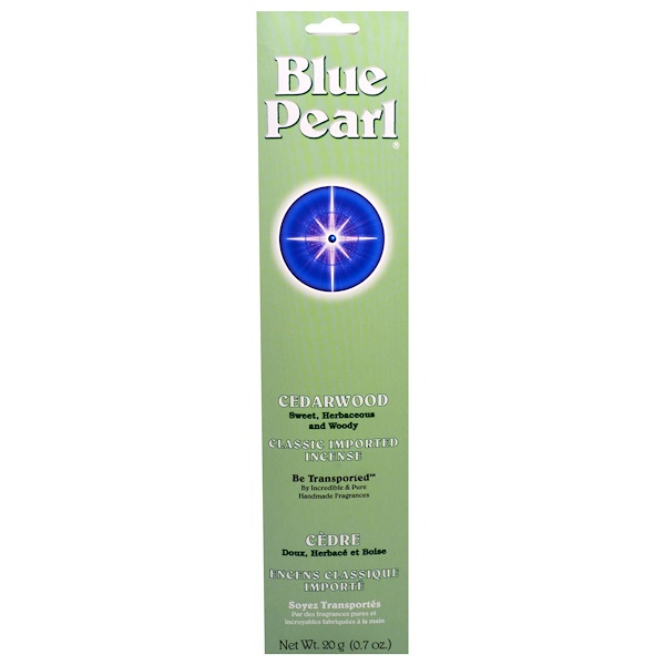 Blue Pearl, Classic Imported Incense, Cedarwood, 0.7 oz (20 g) (Discontinued Item)
