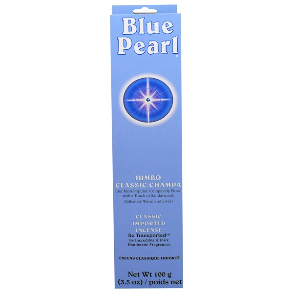 Blue Pearl, Classic Imported Incense, Jumbo Classic Champa, 3.5 oz (100 g)