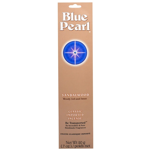 Blue Pearl, Classic Imported Incense, Sandalwood, 0.7 oz (20 g) (Discontinued Item)