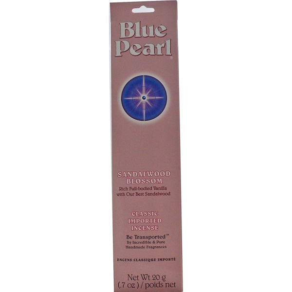 Blue Pearl, Classic Imported Incense, Sandalwood Blossom, 0.7 oz (20 g) (Discontinued Item)