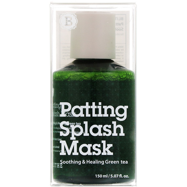 Blithe, Patting Splash Mask, Soothing & Healing Green Tea, 5.07 fl oz (150 ml)