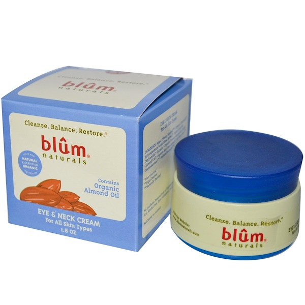 Blum Naturals, Eye & Neck Cream for All Skin Types, 1.8 oz (Discontinued Item)