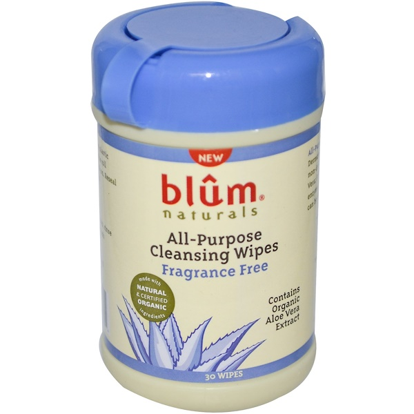 Blum Naturals, Многофункциональные салфетки для протирания, без ароматизатора, 30 салфеток (Discontinued Item)