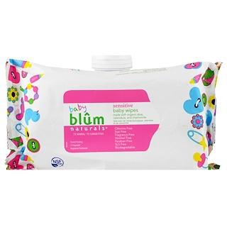 Blum Naturals, Для Младенца, Смягчающий Лосьон для Чувствительной Кожи, Детские влажные салфетки, Без Запаха, 72 салфетки