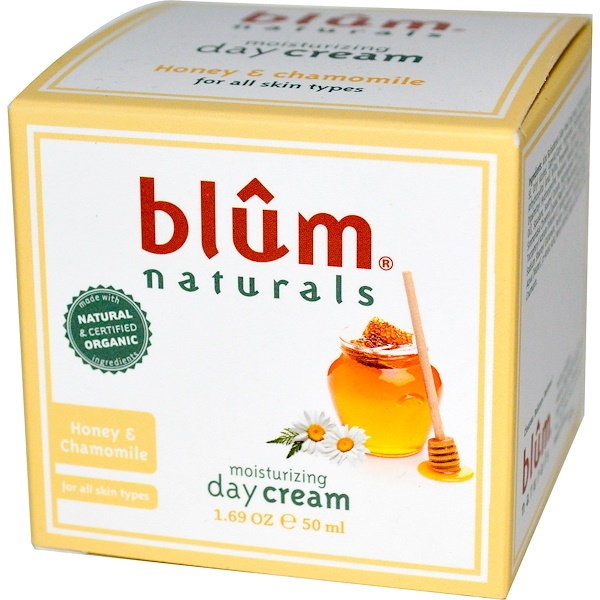 Blum Naturals, Moisturizing Day Cream, Honey & Chamomile, 1.69 oz (50 ml)