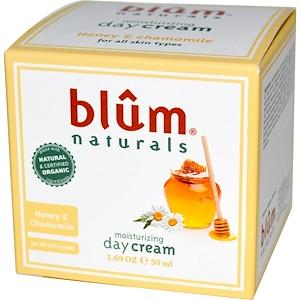 Blum Naturals, Увлажняющий дневной крем, мед и ромашка, 50 мл (1,69 унции) инструкция, применение, состав, противопоказания