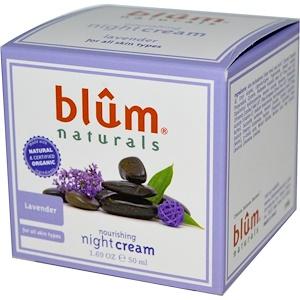 Blum Naturals, Питательный ночной крем, лаванда, 50 мл (1,69 унции) инструкция, применение, состав, противопоказания