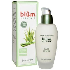 Blum Naturals, Сыворотка для лица, 1.69 унции (50 мл) инструкция, применение, состав, противопоказания