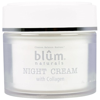 Blum Naturals, Night Cream with Collagen, 1.69 oz (50 ml)