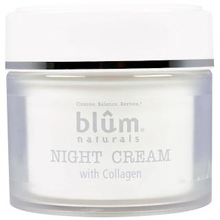 Blum Naturals, コラーゲン入りナイトクリーム、1.69オンス(50 ml)