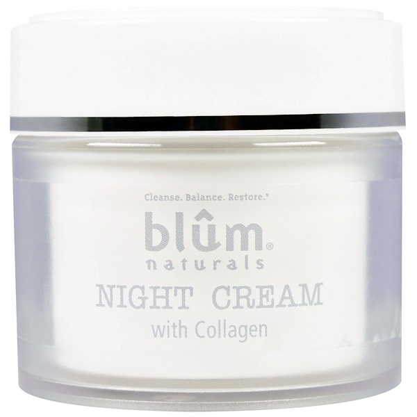 Blum Naturals, 骨膠原晚霜,1、69 oz (50 ml)