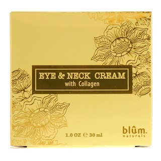 Blum Naturals, Eye & Neck Cream with Collagen, 1 oz (30 ml)