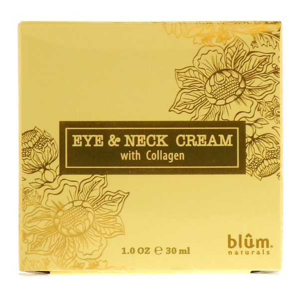 :Blum Naturals, Eye & Neck Cream with Collagen, 1 oz (30 ml)