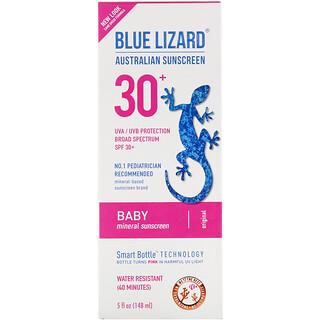 Blue Lizard Australian Sunscreen, Baby, Mineral Sunscreen, SPF 30+, 5 fl oz (148 ml)