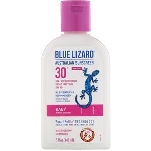 Блу Лизард Остралиэн Санскрин, Baby, Mineral Sunscreen, SPF 30+, 5 fl oz (148 ml) отзывы покупателей