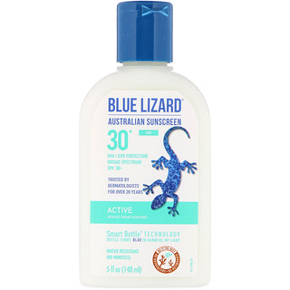 Blue Lizard Australian Sunscreen, Active, Mineral-Based Sunscreen, SPF 30+, 5 fl oz (148 ml)