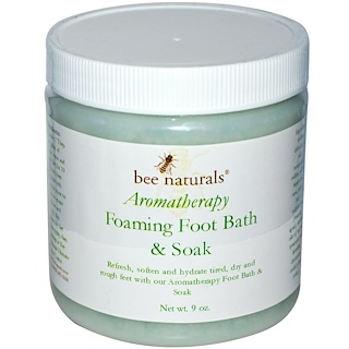Bee Naturals, Aromatherapy Foaming Foot Bath & Soak, 9 oz
