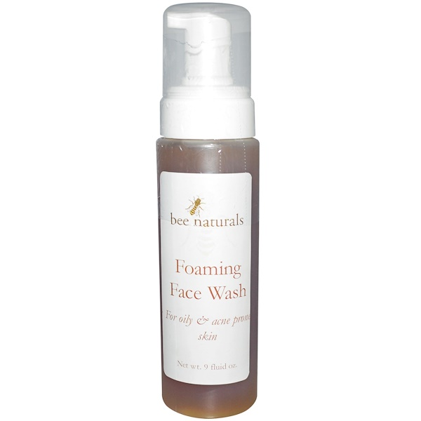 Bee Naturals, Foaming Face Wash, 9 fl oz (Discontinued Item)