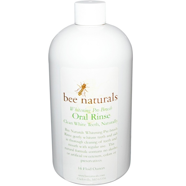 Bee Naturals, Whitening Pre-Brush, Oral Rinse, 16 fl oz (Discontinued Item)