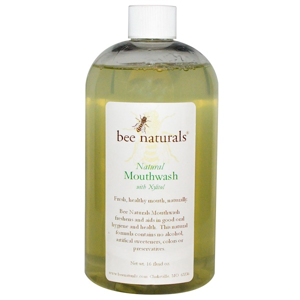 Bee Naturals, Natural Mouthwash with Xylitol, 16 fl oz (Discontinued Item)