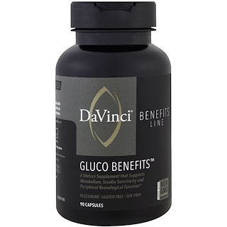 DaVinci Benefits, Gluco Benefits, 90 Capsules