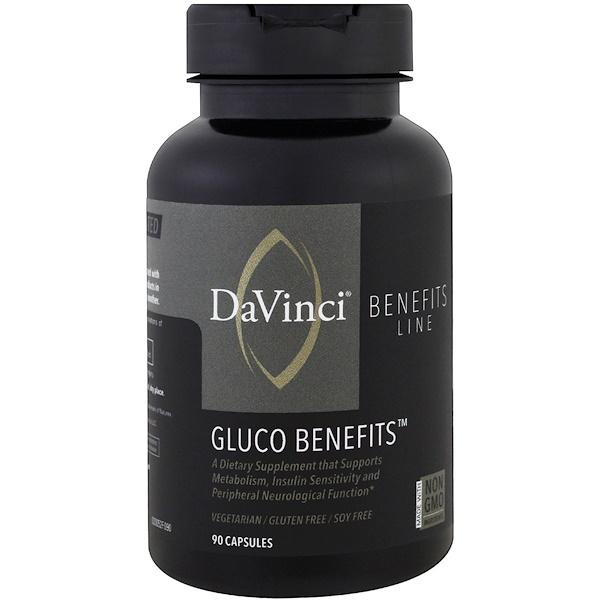 DaVinci Benefits, 含糖膠囊,90 粒