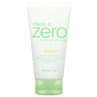 Banila Co., Clean It Zero, Tri-Peel Acid Pore Clarifying Foam Cleanser, 5.07 fl oz (150 ml)