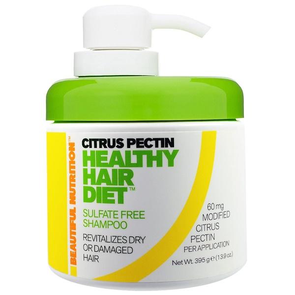 Beautiful Nutrition, 柑橘果膠,健康頭髮療養,無硫洗髮水,13、9盎司(395克)