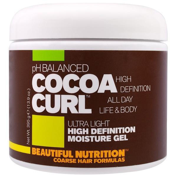 Beautiful Nutrition, 酸鹼平衡可可捲曲,超輕,高效保濕凝膠,13、9盎司(395克)