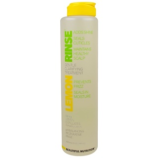 Beautiful Nutrition, Lemon Rinse, Gentle Clarifying Treatment, 14 mg, 13.3 fl oz (393 ml)