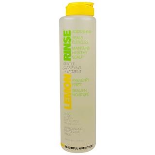 Beautiful Nutrition, Lemon Rinse, Gentle Clarifying Treatment, 14 mg, 13.3 fl oz (393 ml)