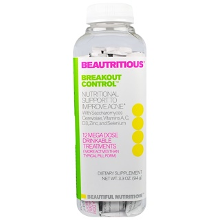 Beautiful Nutrition, Beautritious, Breakout Control, Drink Mix, 12 Mega Dose Drinkable Treatments, 3.3 oz (94 g)