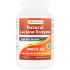 Natural Lactase Enzyme, 3000 FCC ALU, 180 Tablets