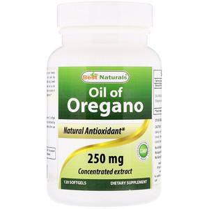 Best Naturals, Oil of Oregano, 250 mg, 120 Softgels отзывы