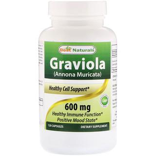 Best Naturals, Graviola (Annona Muricata), 600 mg, 120 Capsules