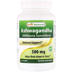 Best Naturals, Ashwagandha (Withania Somnifera), 500 mg, 120 VCaps отзывы