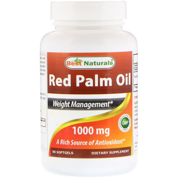品牌從A - ZBest Naturals類別補充品抗氧化劑:Best Naturals, Red Palm Oil, 1000 mg, 90 Softgels
